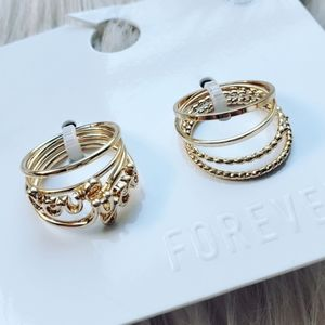 *{ forever 21 } love you gold tone stackable rings